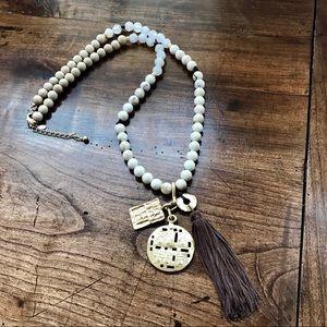 Chico's Tassle & Charm Necklace